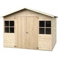 Caseta de madera - Lopun/Fresno (12 mm, 272 x 182 cm, 4.96 m²)