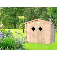 Caseta de madera LOSANGE - 5,2 mý + lampára solar GRATIS