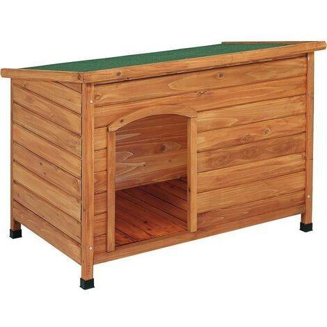 caseta de madera para perro TECHO PLANO COPELE mediana