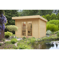 "Caseta de madera ""SYDNEY 2"" 34 mm / 9,00 m² / 3,00 m x 3,00 m"
