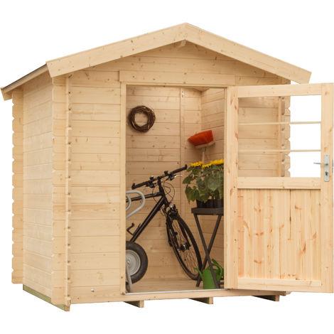 """Caseta de madera """"VISBY"""" 28 mm / 4,86 m² / 2,18 m x 2,23 m"""