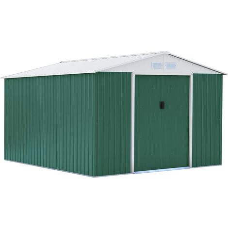 Caseta de metal para jardín Rosas 10,85 m²