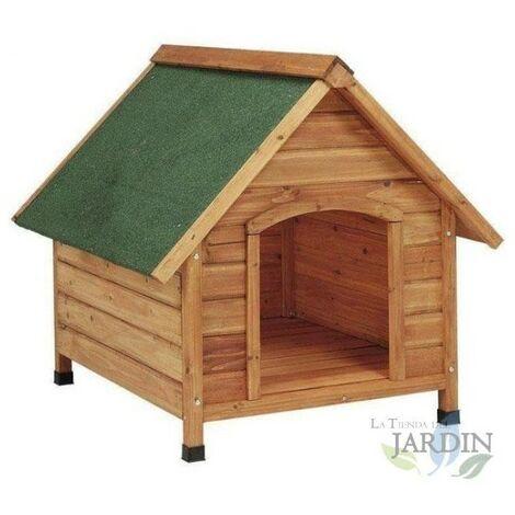 Caseta de perro de madera a dos aguas