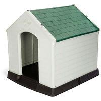 Caseta de Perro Zeus Maxi Resina Beige/Verde 96x105x98 cm - KZT1003 - GARDIUN