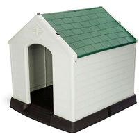 Caseta de Perro Zeus Plus Resina Beige/Verde 78x87x81 cm - KZT1002 - GARDIUN