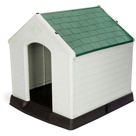 Caseta de Perro Zeus Plus Resina Gardiun 87x78x81 cm Beige/Verde - KZT1002
