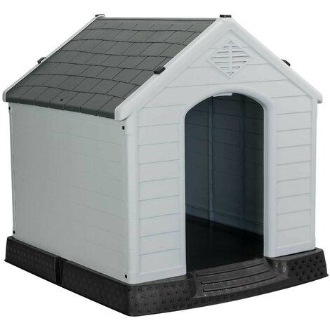 Caseta de Resina para Perros 98,5x105x96,5cm 7house