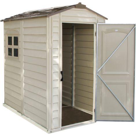 Caseta exterior de PVC. Medidas: 179x118x189 cm. Superficie 2,13 m2