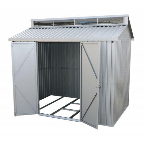 Caseta exterior en aluminio. Medias 182x263x230 cm. Superficie 4,80 m2