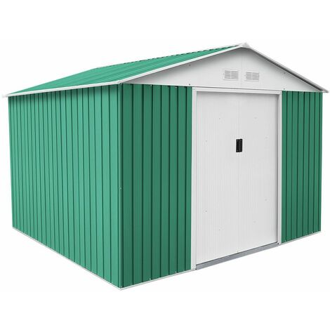 Caseta Metálica Gardiun Bristol 7,74 m² Exterior 241x321x205 cm Acero Galvanizado Marrón - KIS12863