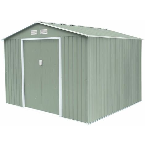 Caseta Metálica Gardiun Devon 7,06m² Verde 277x255x202 cm 0.25 mm Acero Galvanizado - KIS12950