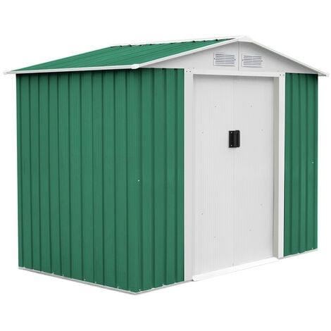 Caseta Metálica Gardiun Glasgow 6,3 m² Exterior 241x261x198 cm Acero Galvanizado Verde - KIS12992