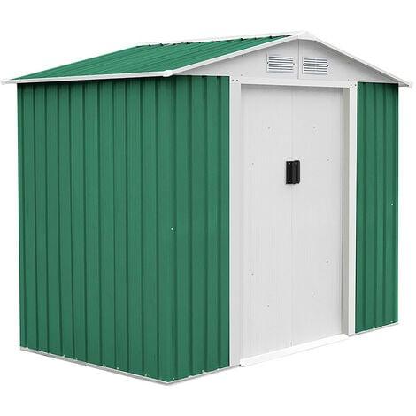 Caseta Metálica Gardiun Manchester 3,64 m² Exterior 181x201x190 cm Acero Galvanizado Verde - KIS12141
