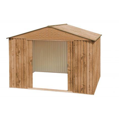 Caseta metálica jardín. Medidas 293x321x210 cm. Superficie 9,43 m2