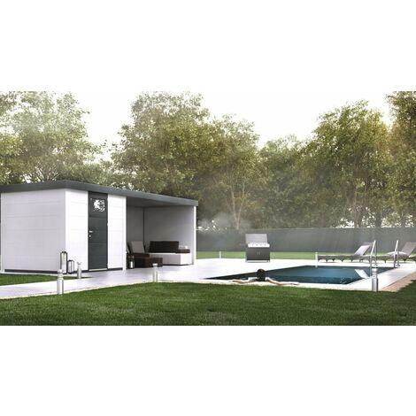 Caseta Metalica Jardin Novo Habitat Nh4 con Terraza