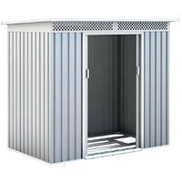 Caseta Metálica Kingston Silver/Blanco 3 m² Exterior - KIS12134 - GARDIUN