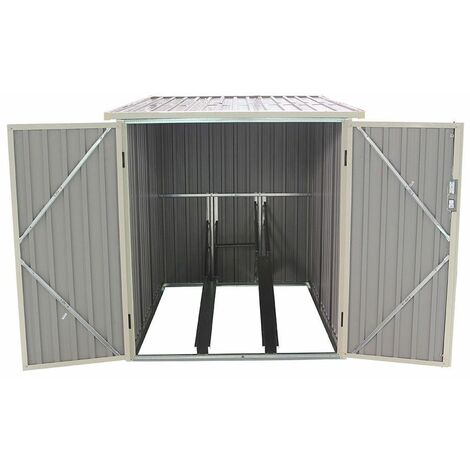 Caseta Metálica para Bicicleta Gardiun Veloc I (X2) 2,81 m² Exterior 198x142x157 cm - KIS12968