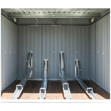 "main image of ""Caseta Metálica para Bicicleta Gardiun Veloc II (X4) 4,02 m² Exterior 198x203x157 cm - KIS12969"""