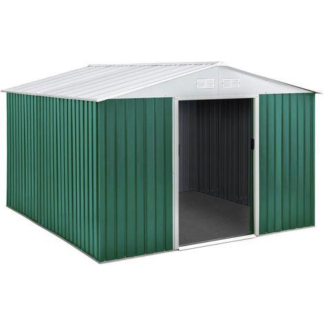 Caseta de metal para jardín ROSAS 7,06 m²