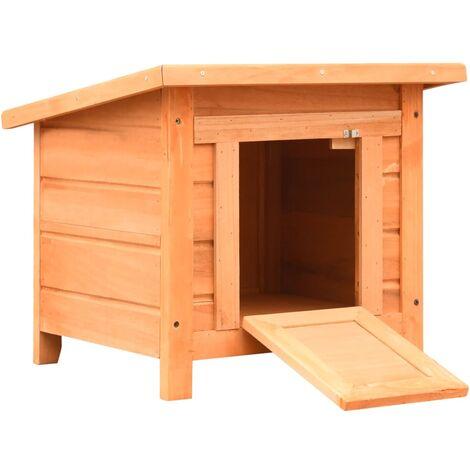 "main image of ""Caseta para gatos madera maciza de pino y abeto 50x46x43,5 cm"""