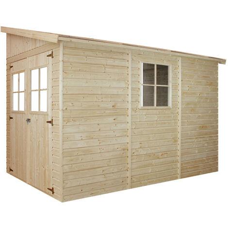 Caseta para jardín de madera TIMBELA M339 - con tapa lateral o sin