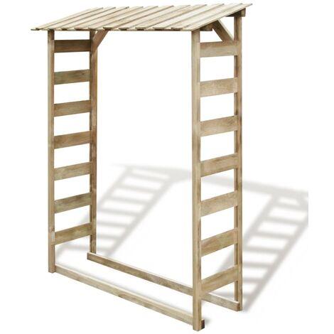 Caseta para leña madera de pino impregnada 150x44x176 cm