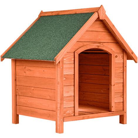 Caseta para perros Bailey - casa para perros, caseta de perro de madera para jardín, casita para perros para exterior - marrón