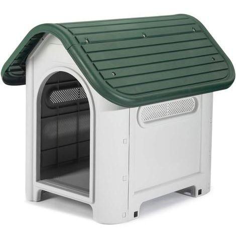 Caseta para perros en resina de plástico Kira verde