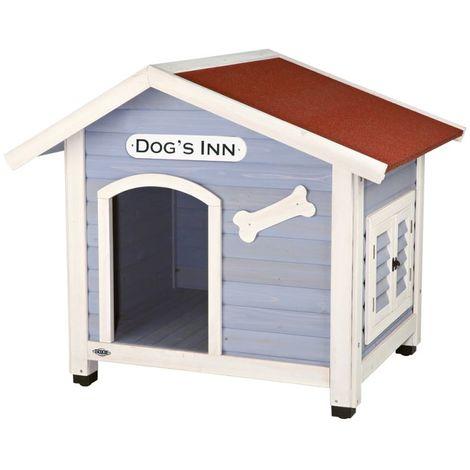 Caseta para perros madera maciza de pino B 107 x T 90 x H 93 cm