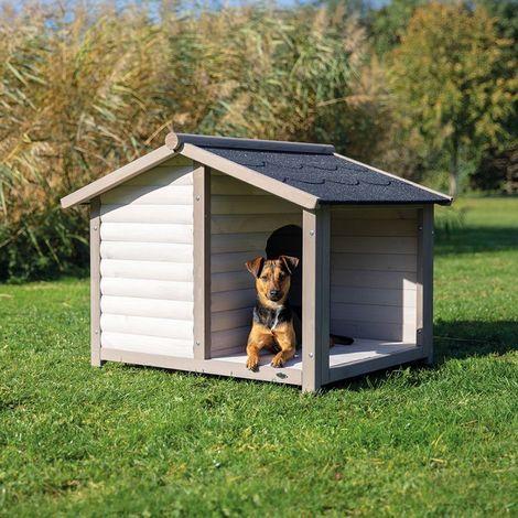 Caseta para perros madera maciza de pino B 130 x T 100 x H 105 cm