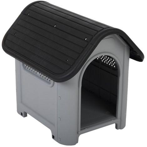 Caseta para perros plastic B 60 x T 74 x H 66 cm
