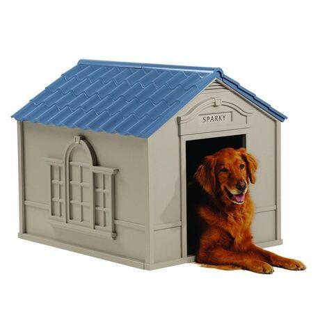 Caseta Suncast para perros grandes de resina DH350 medidas: 98x84x81 cm.