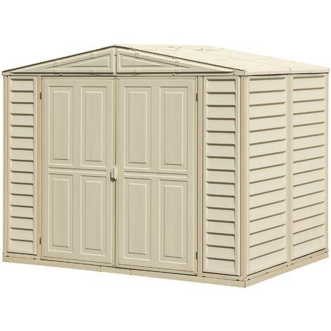Casetas de resina. Medidas 1.628 x 2.397 x 1.855 mm. Superficie: 3,90 m2