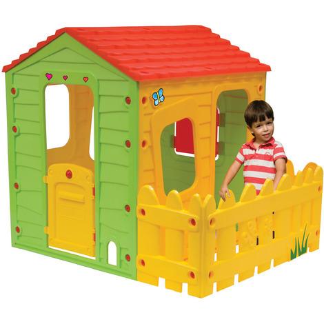 Casetta bambini in PVC STALLETTA - 1.18 x 1.46 x 1.27 m