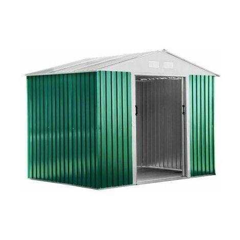 Casetta Box In Lamiera Da Giardino Esterno Verde Cm. 267X172