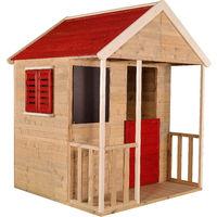 Casetta da giardino bambini Avventura Estiva -Rosso