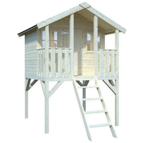 Casetta da giardino per bambini in legno d 39 abete nordico for Casetta giardino bambini usata