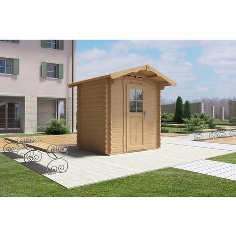 Casetta di legno 2x1.5 con porta frontale