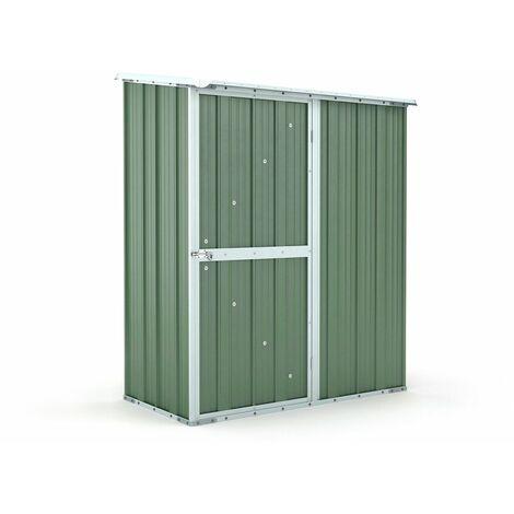 Casetta giardino attrezzi Box in Acciaio Zincato 155x100cm x h192cm - 50KG – 1,55mq - VERDE