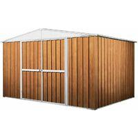 Casetta giardino lamiera Box in Acciaio Zincato 360x345cm x h2.12m - 150KG - 12,25mq - LEGNO