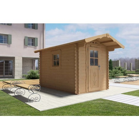 Casetta in legno 2x3 con porta frontale e finestra laterale