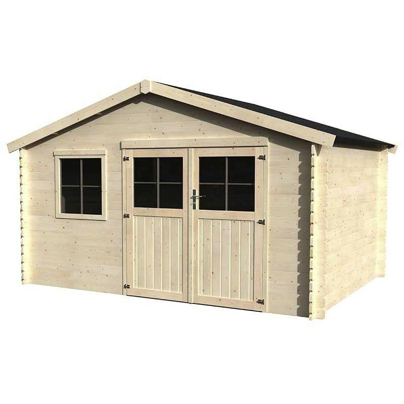 Casetta in legno flodeal 28mm di spessore 400x300cm 11 for Casette in legno per cani grandi