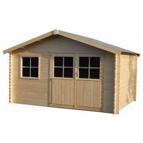 Casetta in legno Flodeal (28mm di spessore, 400x300cm, 11,92m2)