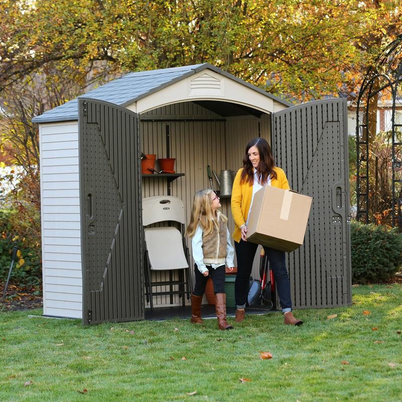 Mobili Per Attrezzi Da Giardino.Casetta In Resina Pvc Per Esterno Ricovero Porta Attrezzi Da Giardino Mobile Box