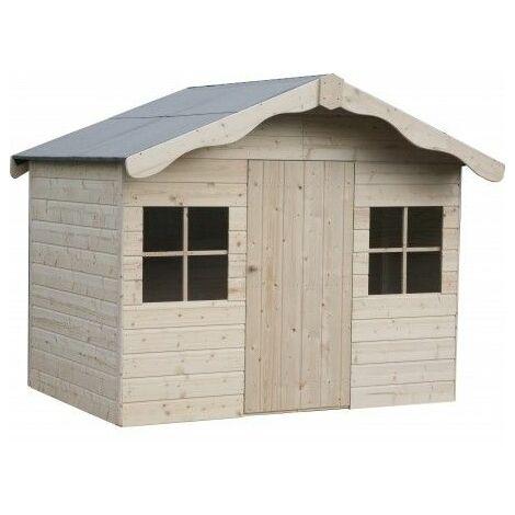 Casetta infantile in legno Aurelie per i bimbi12mm di spessore, 1,80x1,30 m.
