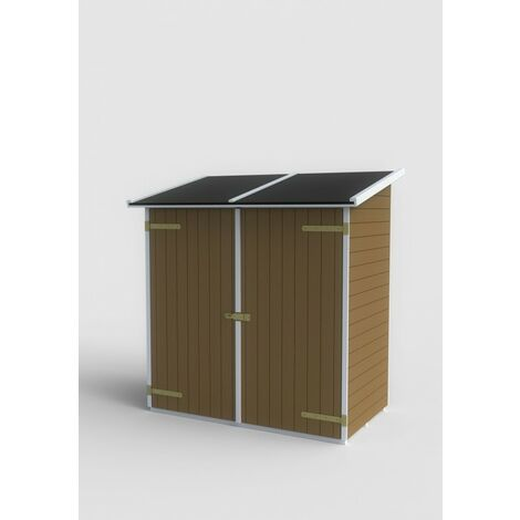 """main image of """"Casetta lerici monopendenza in legno di abete porta doppia 149x84 - sp 14mm trattata"""""""