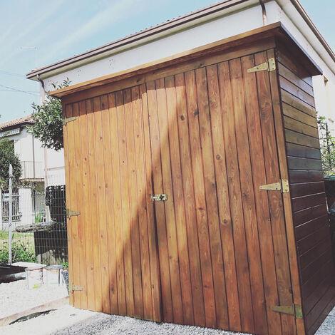 Casetta ripostiglio legno IMPREGNATO 194 X 99 x 179 h. cm ARMADIONE CON pavimento