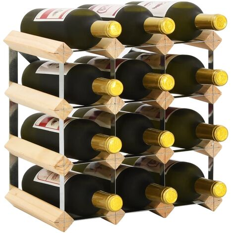 Casier à bouteilles 12 bouteilles Pinède solide