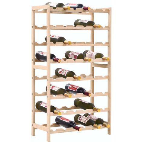 Casier a bouteilles Bois de cedre 57,5 x 28 x 102 cm