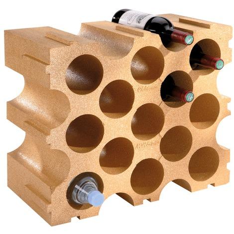 Casier à bouteilles en polystyrène 15 bouteilles 50 x 26 x 43